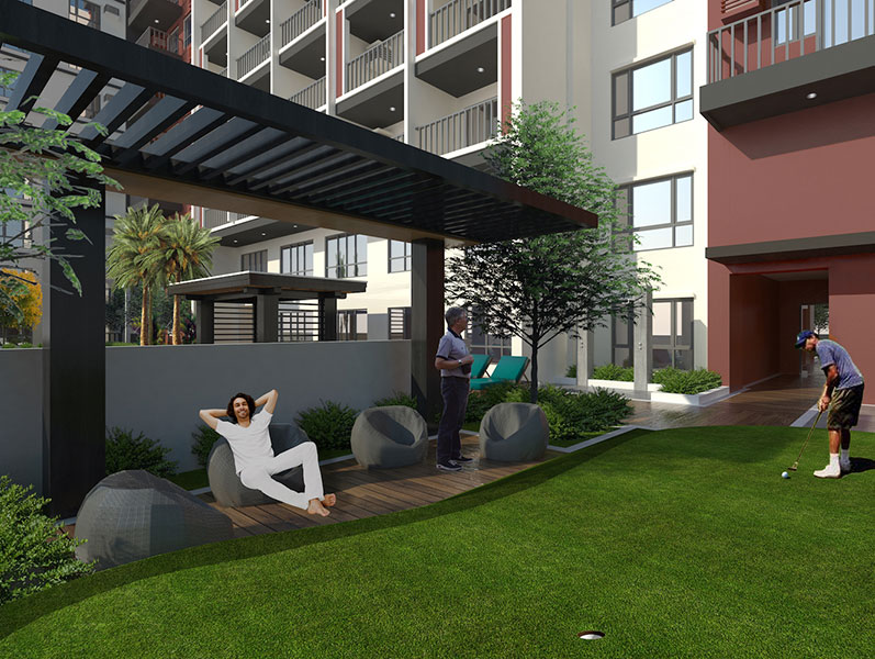 Golf lovers who are residents of the condominium development will enjoy convenient access to their favorite sport through a putting green right inside the development.